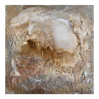 """Portal (#8 in Series) "" Original Abstrast Modern Neutral Art Metallic Landscape Painting"