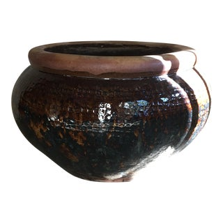 Oversized Glazed Pot