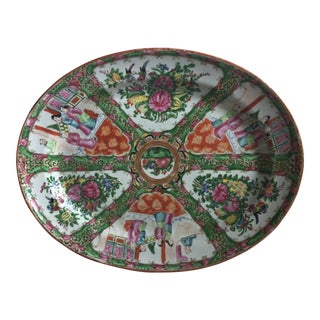 Antique Rose Medallion Chinese Platter