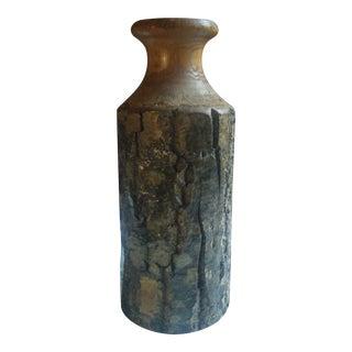 Vintage Handmade Tree Bark Wooden Vase