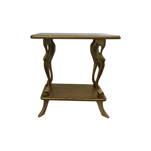 Italian Gold Side Table - Image 1 of 6