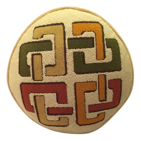 1970's Geometric Needlepoint Pillow - Image 1 of 4