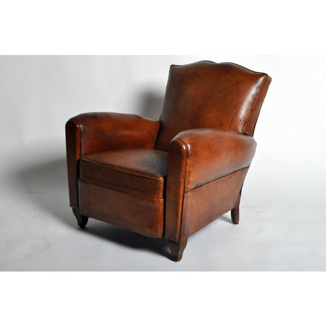 Art Deco Leather Club Chair - Image 2 of 11