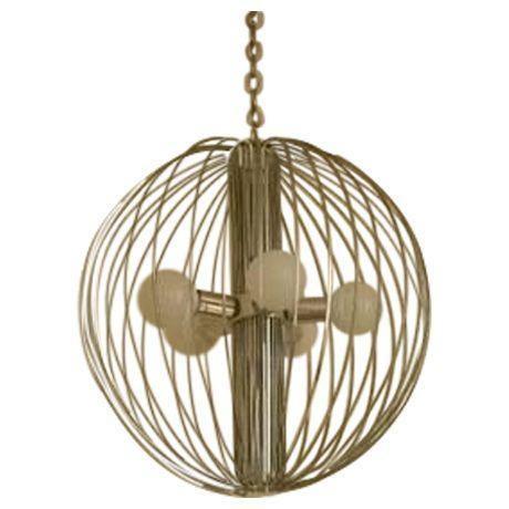 """Image of Lightolier Gaetano Sciolari """"Cage"""" Pendant Lamp"""