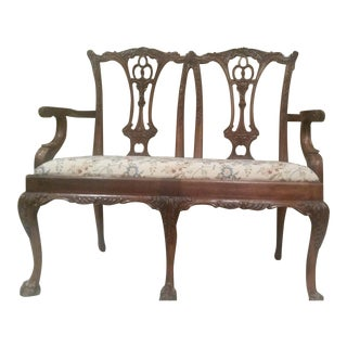 Antique Georgian Chippendale Style Settee