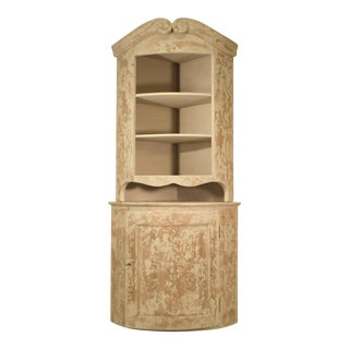 Dovetail Tall Lightly Distressed Book Shelf and Cabinet