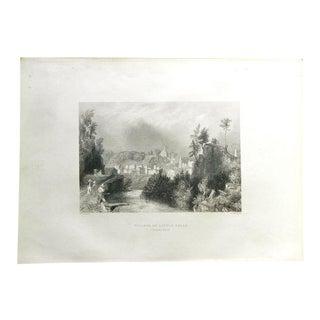 """1883 Antique Print """"Little Falls"""""""
