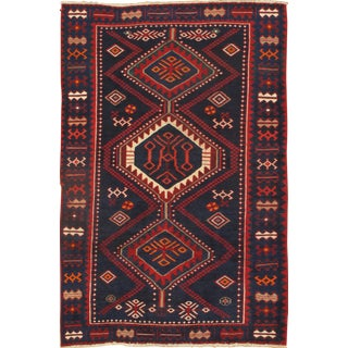 "Persian Bakhtiari Rug Hand-Knotted Area Rug - 4'9"" X 7'5"""