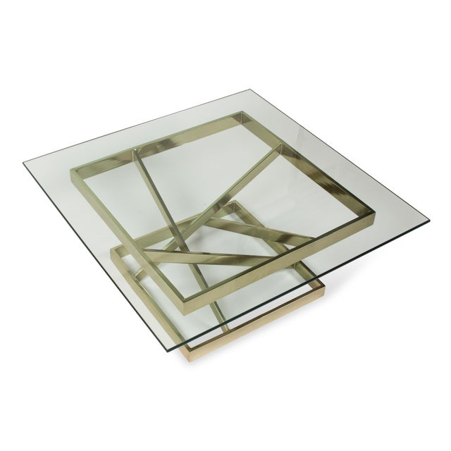 1980s Intersecting Angles Coffee Table - Image 5 of 9