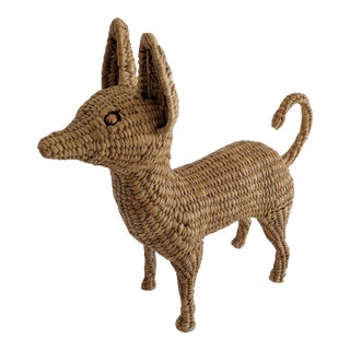 Mario Lopez Torres Wicker Chihuahua Dog Sculpture