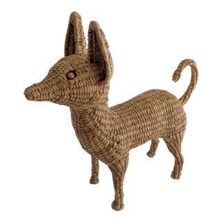 Mario Lopez Torres Wicker Chihuahua Dog Sculpture