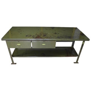 Industrial Work Table Kitchen Island