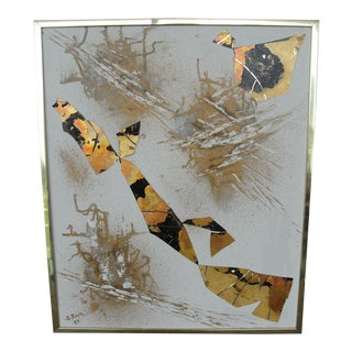 Vintage Abstract Decoupage on Canvas