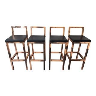 Custom Copper Bar Stools - Set of 4