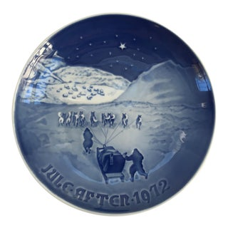"Vintage Christmas Danish Porcelain Royal Copenhagen ""Christmas in Greenland"" Wall Plate"