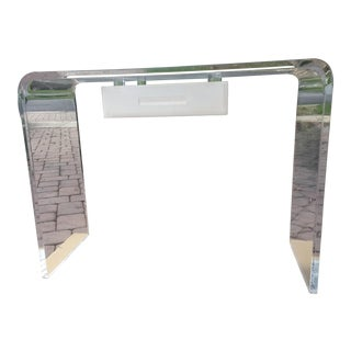 Lucite Waterfall Desk or Vanity ,Console Table