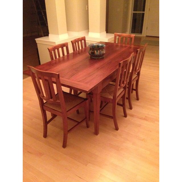 Italian Custom Chestnut Dining Set - Image 2 of 10