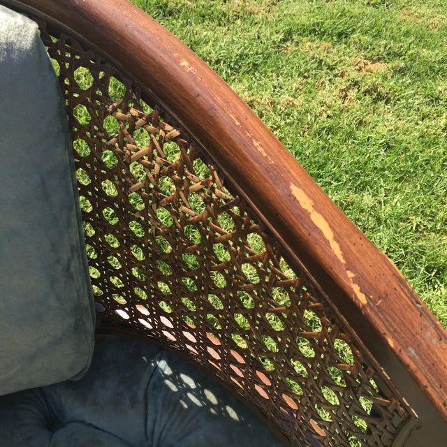 Mid-Century Cane Barrel Chair - Image 10 of 11