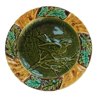French Majolica Bird Plate