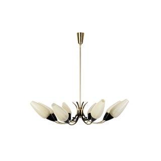 Mid-Century Modernist Blossom Form Sputnik Chandelier By Stilnovo