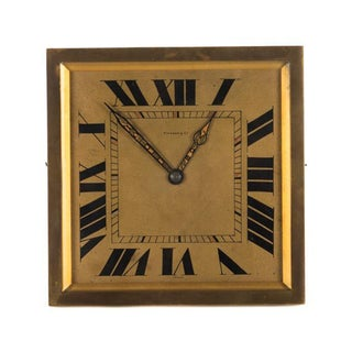 Tiffany & Co. 1930s Original Art Deco Bronze Clock