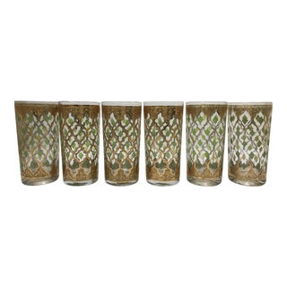Mid-Century Modern Culver Highball Glasses - Set of 6