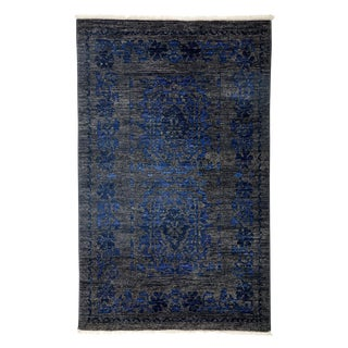 "Overdyed Hand Knotted Area Rug - 3'3"" X 5'1"""