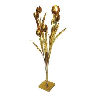 Brass Floor Lamp in the Style of Maison Jansen
