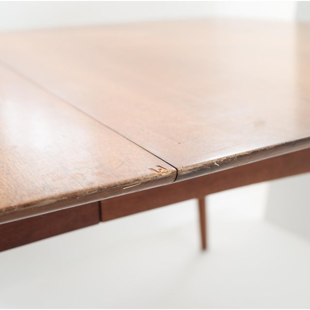 Wooden Mid Century Modern Expandable Dining Table - Image 5 of 5