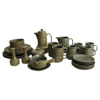 Wedgwood Mid-Century Pottery Dish Set - 30 Pieces