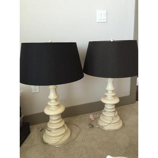 Barbara Cosgrove Turned Table Lamps - Pair - Image 4 of 5