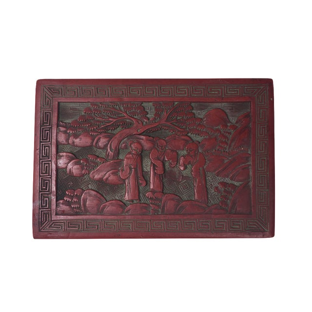 Image of Red Chinoiserie Box