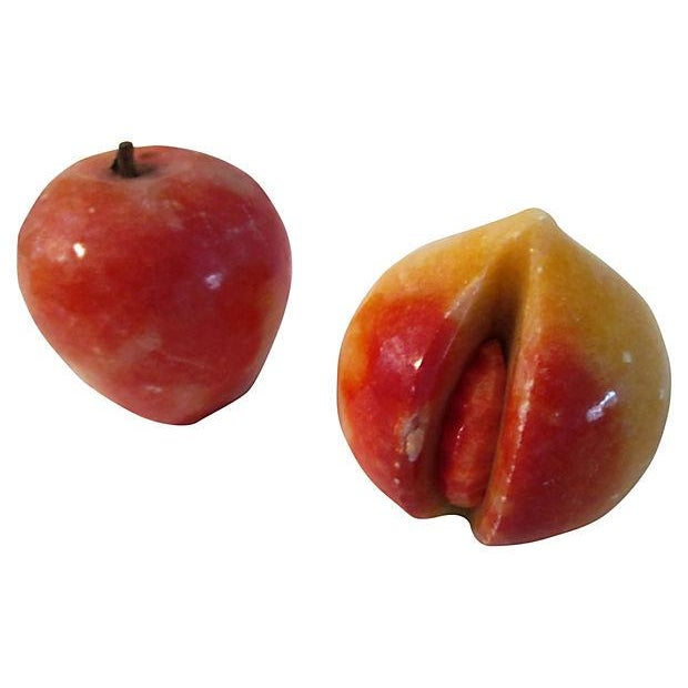 Mid-Century Italian Alabaster Summer Fruit - S/6 - Image 3 of 4