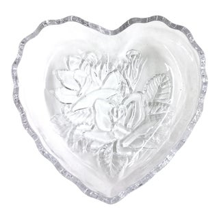 Heart Shaped Crystal Candy or Condiment Dish