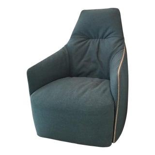 "Poliform ""Santa Monica"" High Back Chair and Ottoman"