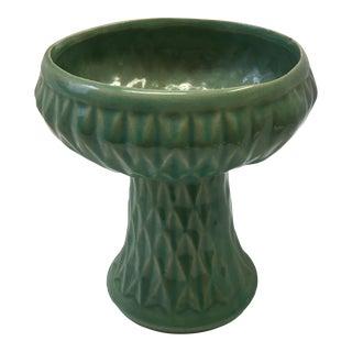 Roseville Mid Century Green Textured Vase