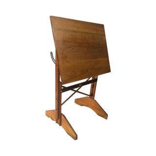 1940s Oak Drafting Table