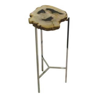 Small Petrified Wood Side Table