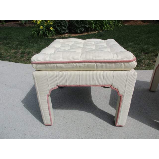 Parsons Style Stools or Footstools -A Pair - Image 9 of 10