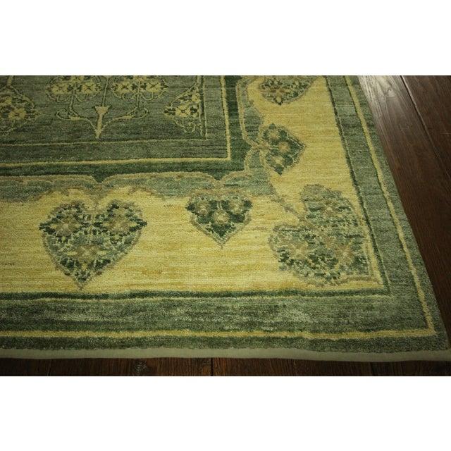 "Green Chobi Gabbeh Oriental Rug - 6'1"" x 9'3"" - Image 4 of 10"