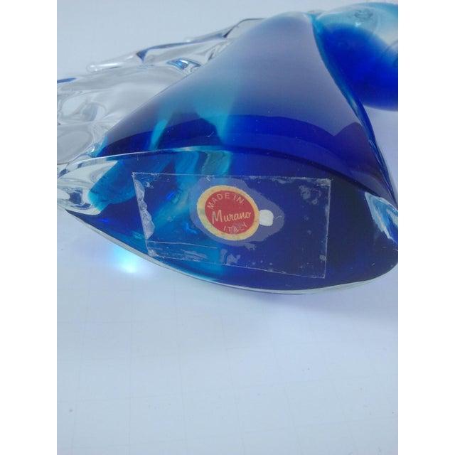 Murano Glass Horse Head Cobalt Italian - Image 7 of 7