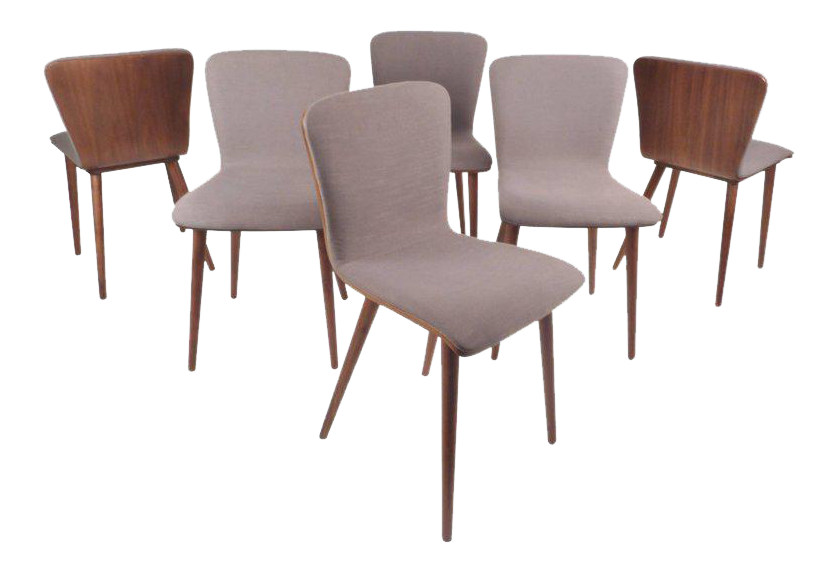 Mid Century Modern Style Dining Chairs   Set Of 6