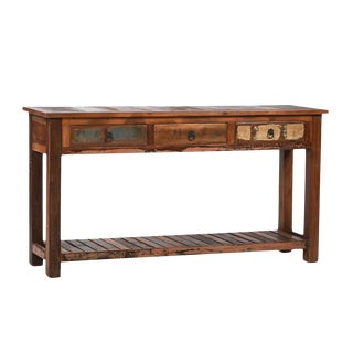 Reclaimed Wood Console with Drawers