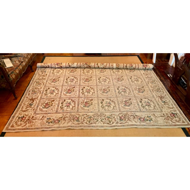 French Aubusson Needlepoint Rug - 8′6″ × 11′6″ - Image 10 of 11