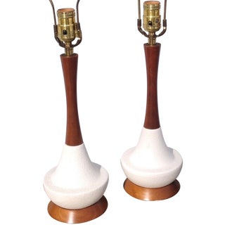 Mid-Century Danish Retro Table Lamps - A Pair