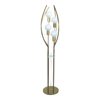Mid-Century Modern BrassFloor Lamp