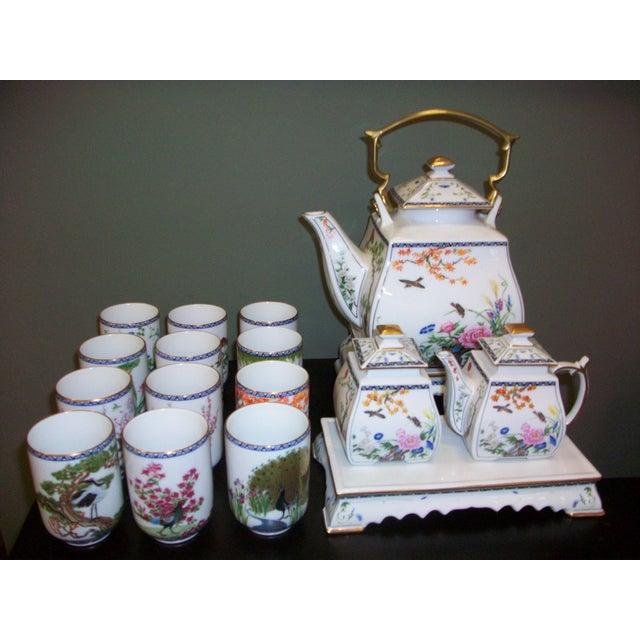 Franklin Mint Japanese Style Porcelain Tea Set - Image 2 of 11