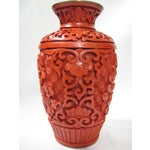 Image of Small Mid-Century Chinese Cinnabar Cabinet Vase