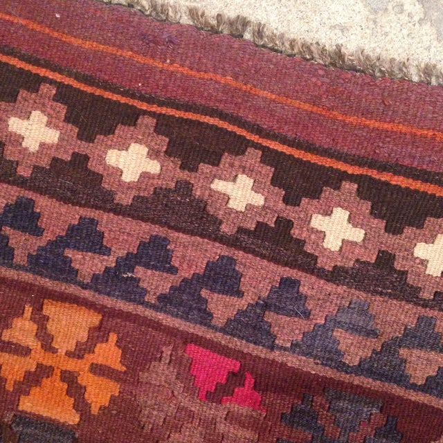 """Turkish Kilim With Hot Pink Pops - 7' X 4'1"""" - Image 6 of 6"""