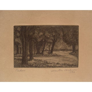 1926 Forest Etching
